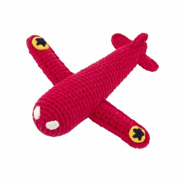 Global Affairs Global Affairs plane rattle crocheted red