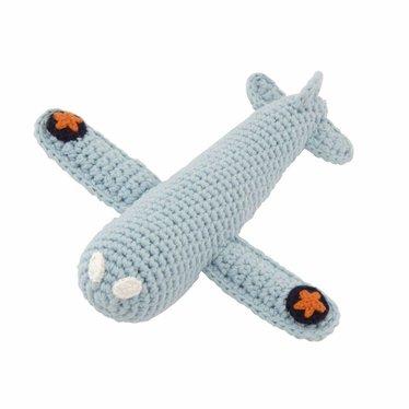 Global Affairs Global Affairs plane rattle crocheted light blue