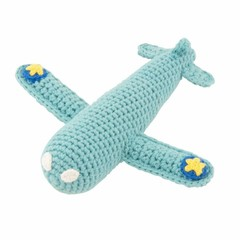 Global Affairs Global Affairs plane rattle crochet turquoise