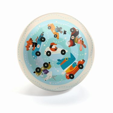 Djeco Ball Traffic 22cm Verkehr blau