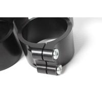 PP Tuning Clip-ons zwart geanodiseerd 55mm verhoogd