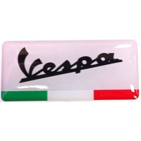 Accessori Italy Vespa logo 3D doming tricolore logo rechthoekig sticker