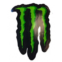 Monster Energy M logo zwart groen