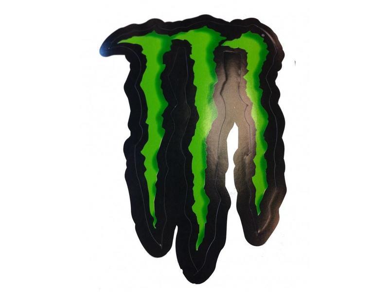 Monster Energy M logo zwart groen