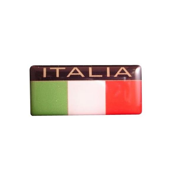 Accessori Italy Italia logo 3D doming tricolore logo rechthoekig sticker
