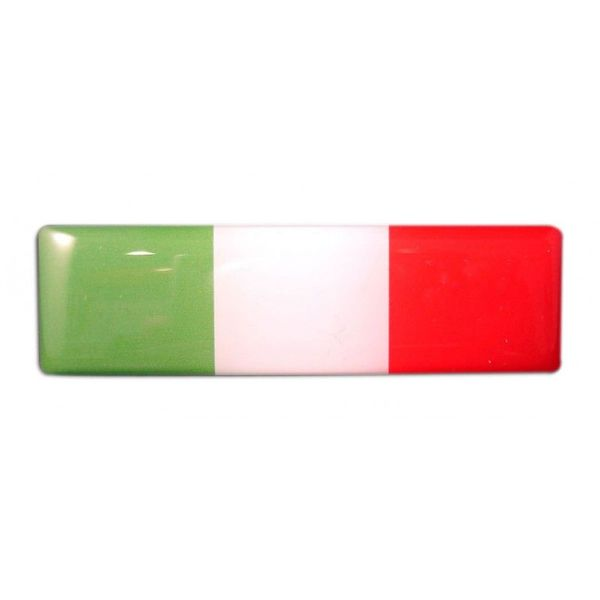Accessori Italy 3D doming Italiaanse Tricolore rechthoekig sticker