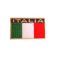 Accessori Italy Italia Opstrijkbadge Logo  tricolore rechthoekig