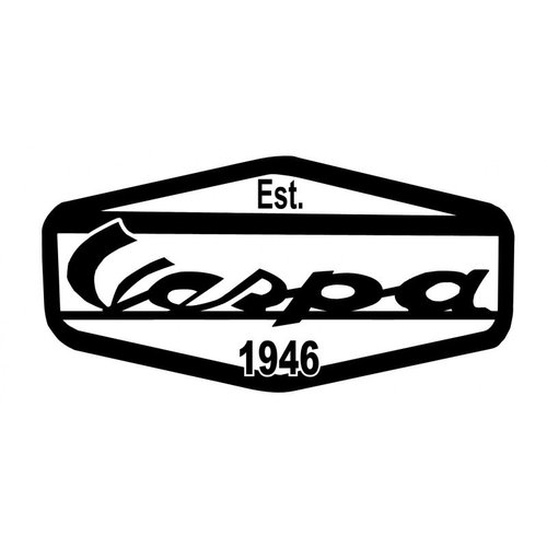 Accessori Italy Vespa Logo Stickerset EST 1946