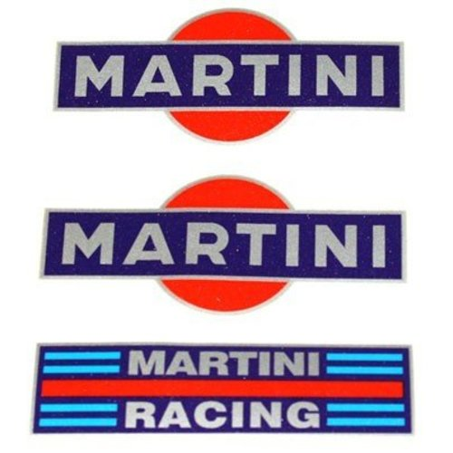 Accessori Italy Martini Stickerset 3 delig