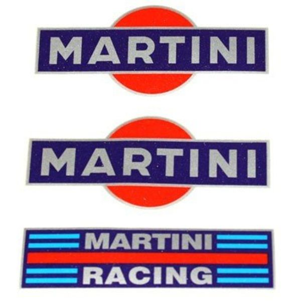Accessori Italy Martini Racing Stickerset 3 delig