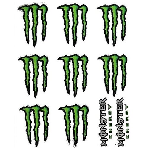 Monster Energy Stickerset 10 Delig
