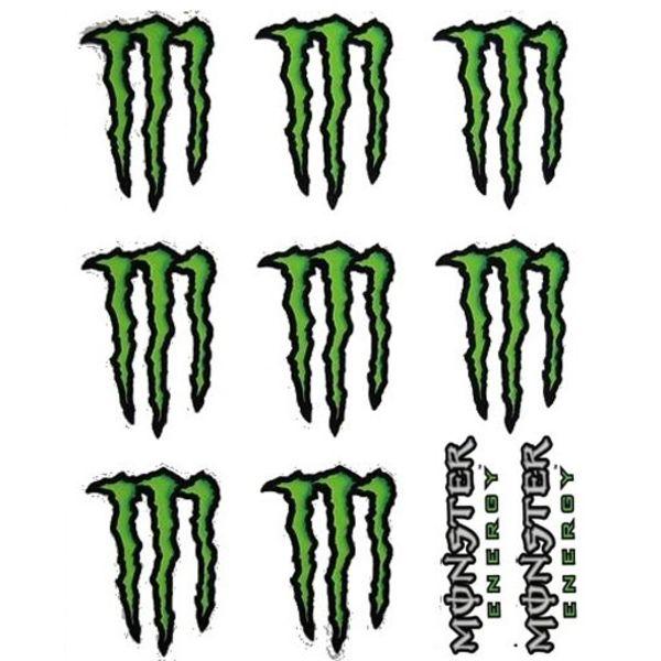 Monster Energy 10 Delig Stickerset