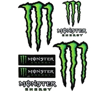 Monster Energy Stickerset 7 Delig Middel Formaat