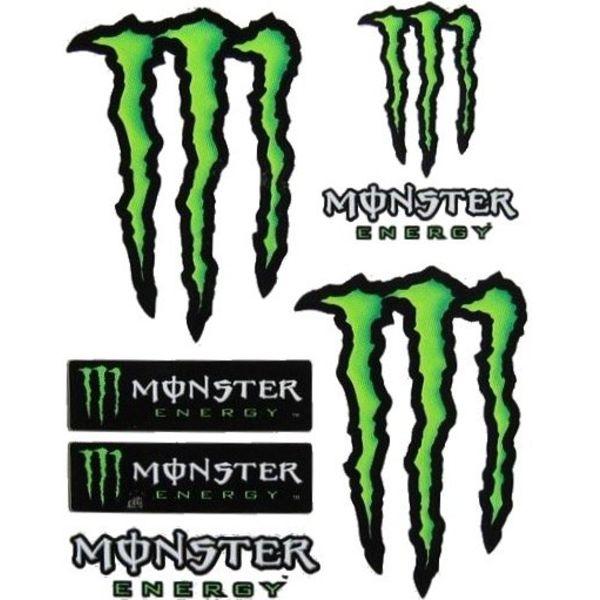 Monster Energy 7 delig Stickerset Middel Formaat