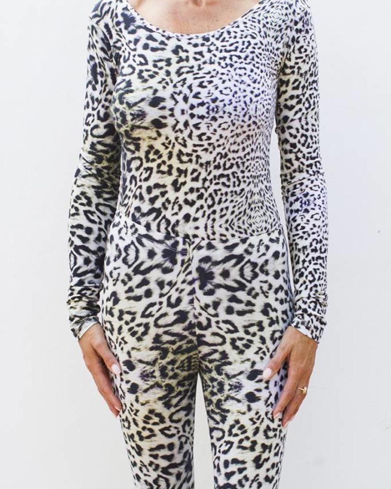 Body Round Neck - Snowleopard