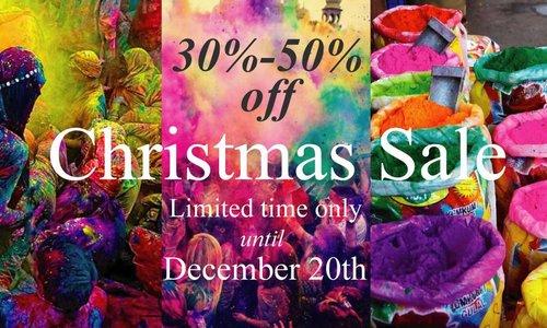 Christmas sale 30% - 50% off