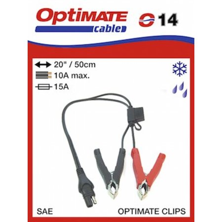 Tecmate Optimate Accuklemmen met kabel en stekker SAE O14