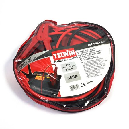 Telwin Booster Cable 3M Pro Line - startkabels 550A