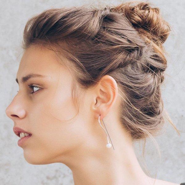 Pearl Drop Earring - Silver