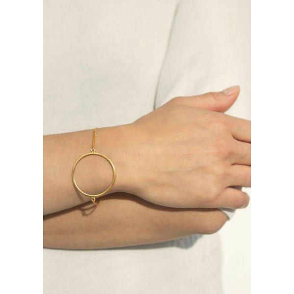 Circle Bracelet - Rose Plated