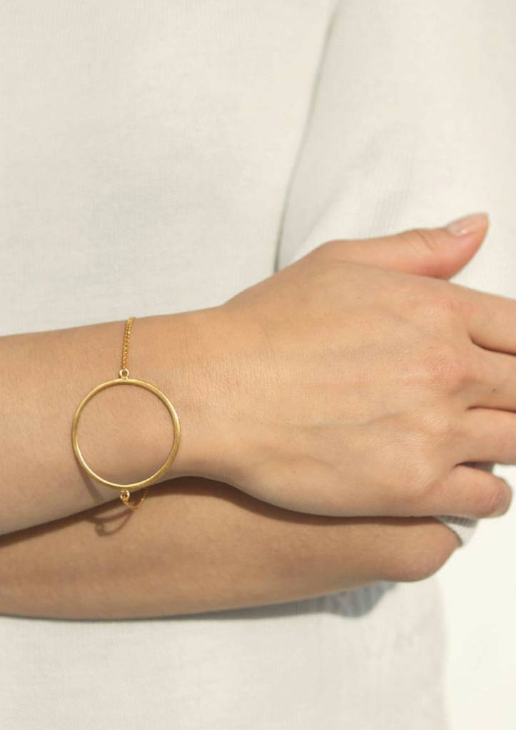 Dutch Basics Circle Bracelet - Rose Plated