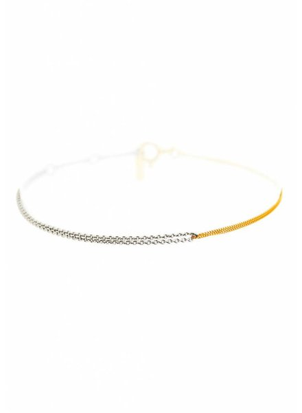 Dutch Basics Interlinked Chain Bracelet - Silver & Gold Plated