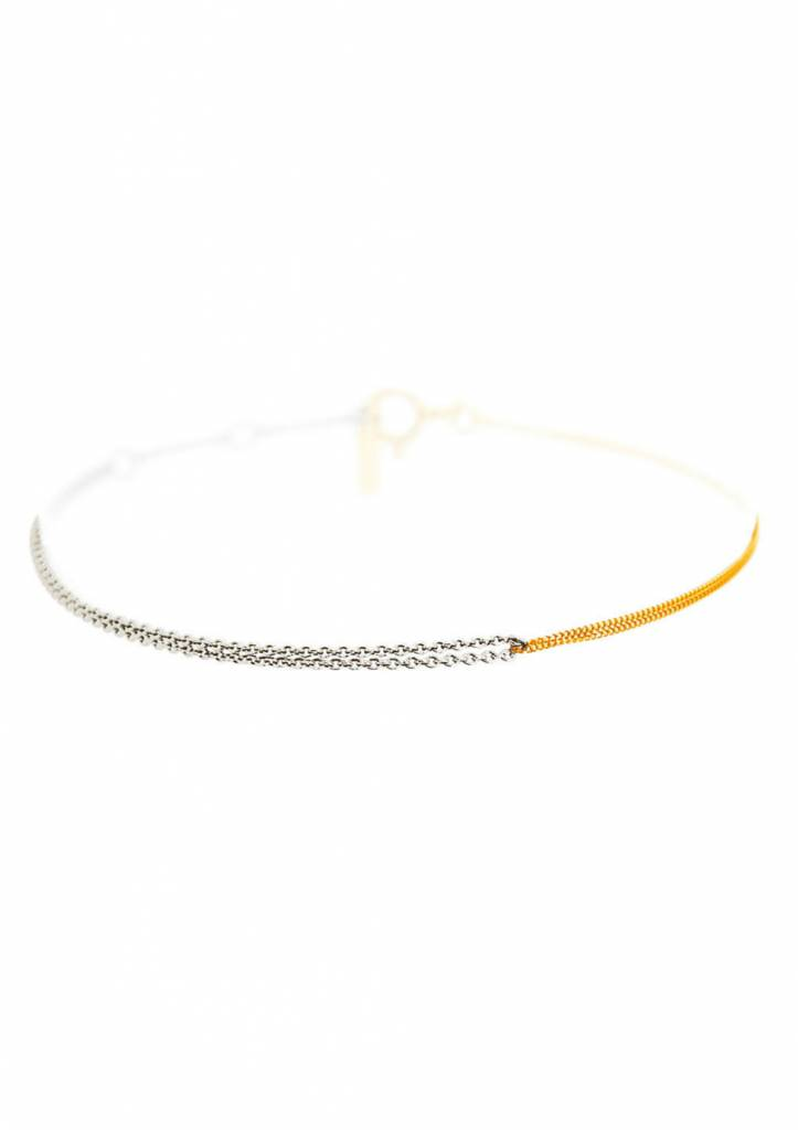 Dutch Basics Silver & Gold Plated Interlinked Chain Bracelet