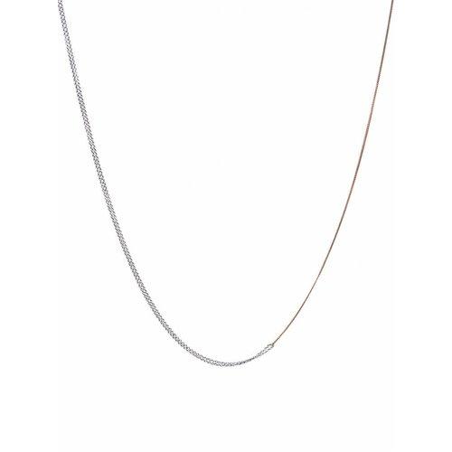 Dutch Basics Interlinked Chain Necklace - Silver & Rose