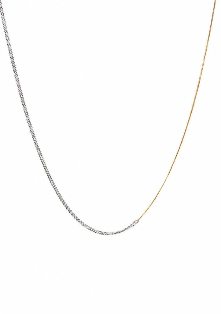 Dutch Basics Interlinked Chain Necklace - Silver & Gold Plated