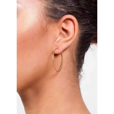 Dutch Basics Fine Hoop Earrings - Gold-Plated