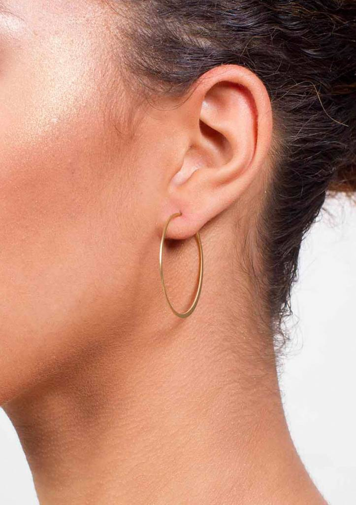 Fine Hoop Earrings Gold Plated