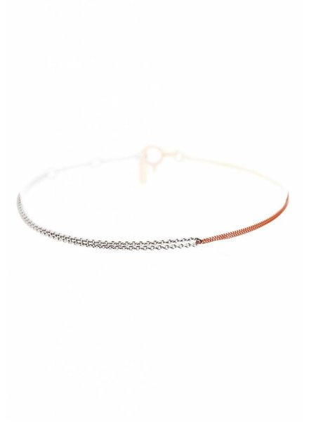 Dutch Basics Interlinked Chain Bracelet - Silver & Rose-Plated