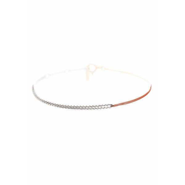 Interlinked Chain Bracelet - Silver & Rose-Plated
