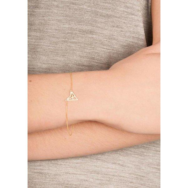 Triangle Bracelet 'HEF' - Rose Plated