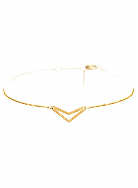 Dutch Basics Triangle Bracelet 'TUI' _ Gold-Plated