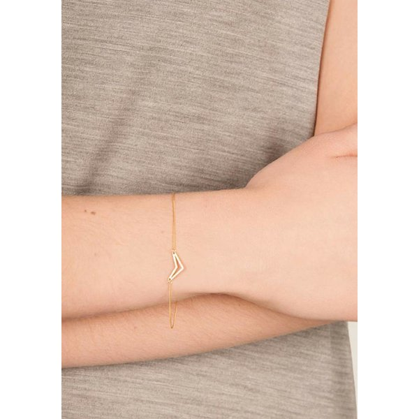 Triangle Bracelet 'TUI' _ Gold-Plated