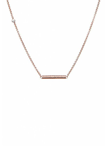 Dutch Basics Cylinder Bar Necklace - Rose Plated