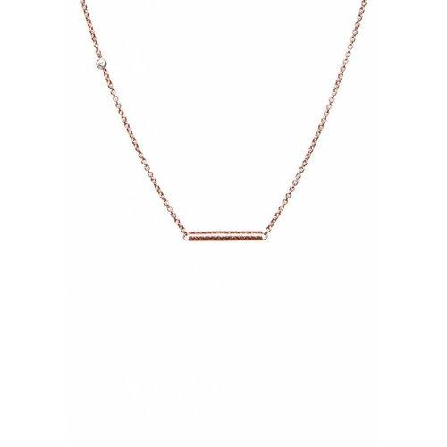 Dutch Basics Cylinder Bar Necklace - Rose Plated