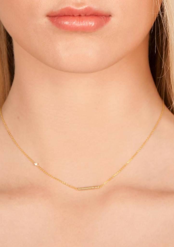 Dutch Basics Cylinder Bar Necklace - Gold-Plated
