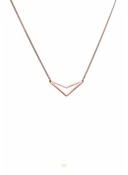 Dutch Basics Triangle Necklace 'TUI' - Rose-Plated