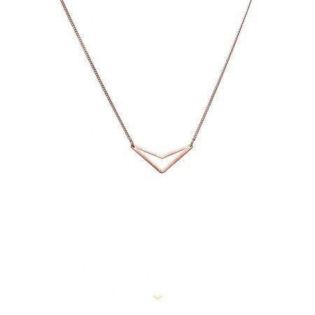 Dutch Basics Triangle Necklace 'TUI' - Rose-Plated