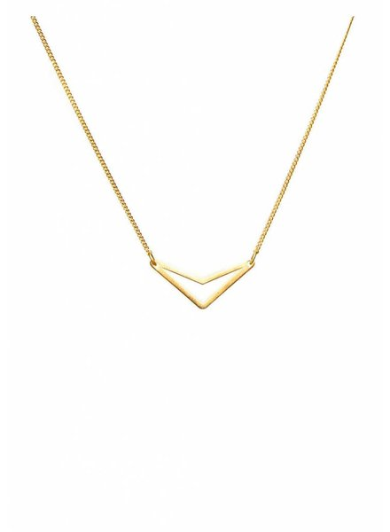 Dutch Basics Triangle Necklace 'TUI' - Gold Plated