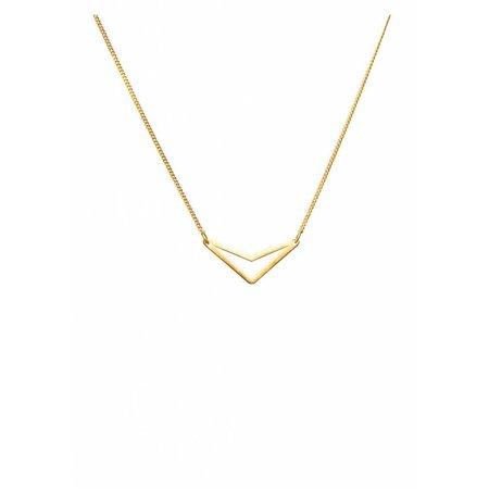 Dutch Basics Triangle Necklace 'TUI' - Gold Plated