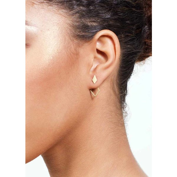 Detachable Earrings 'Ruit' - Rose-Plated