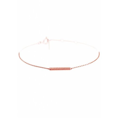 Dutch Basics Cylinder Bar Bracelet - Rose Plated