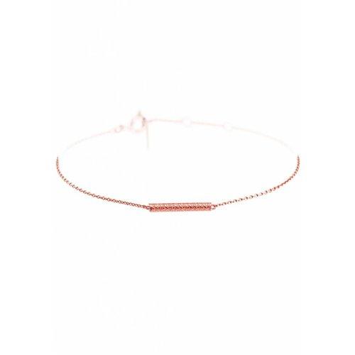 Dutch Basics Cylinder Bar Bracelet - Rose Plated