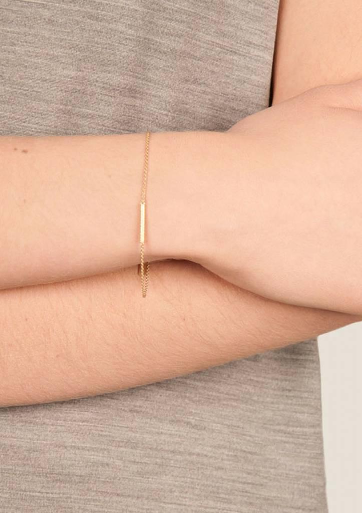 Dutch Basics Cylinder Bar Bracelet - Rose - Plated
