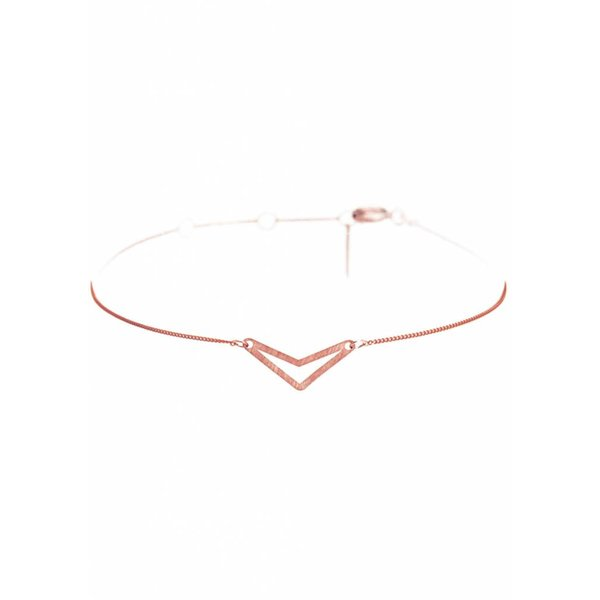 Triangle Bracelet 'TUI' - Rose-Plated