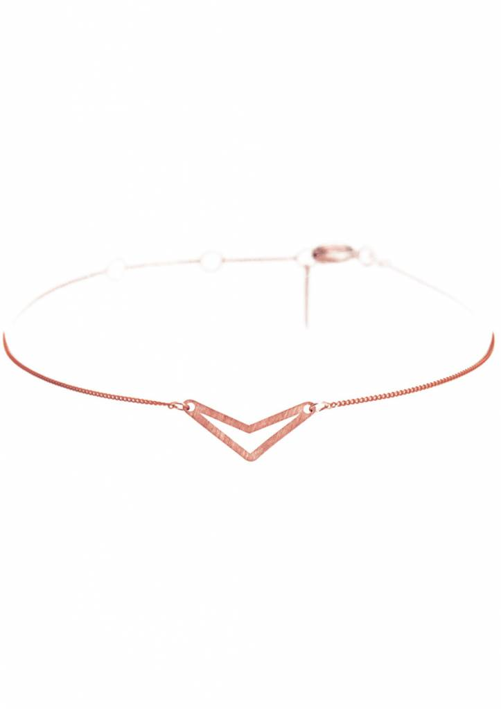 Dutch Basics Triangle Bracelet 'TUI' - Rose-Plated