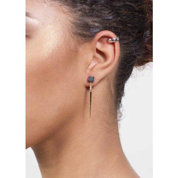 Silver Ear Cuff with Stone